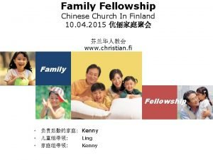 Family Fellowship Chinese Church In Finland 10 04