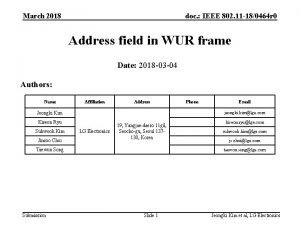 March 2018 doc IEEE 802 11 180464 r
