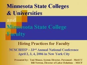 Minnesota State Colleges Universities and Minnesota State College