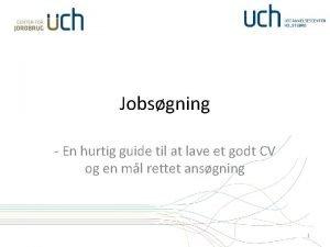Jobsgning En hurtig guide til at lave et