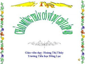 Gio vin dy Hong Th Thy Trng Tiu