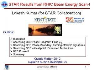 STAR Results from RHIC Beam Energy ScanI Lokesh
