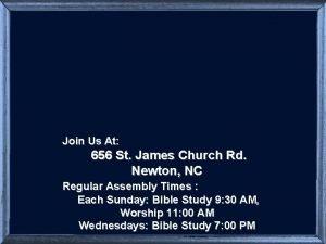 Join Us At 656 St James Church Rd