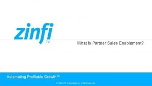 What is Partner Sales Enablement Automating Profitable Growth