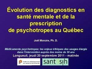 volution des diagnostics en sant mentale et de