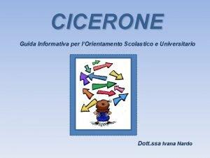 CICERONE Guida Informativa per lOrientamento Scolastico e Universitario