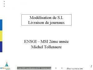 Modlisation de S I Livraison de journaux ENSGI