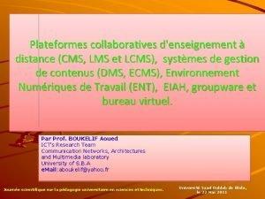 Plateformes collaboratives denseignement distance CMS LMS et LCMS