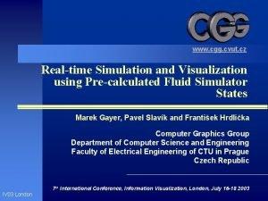 www cgg cvut cz Realtime Simulation and Visualization