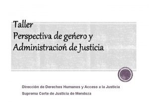 Direccin de Derechos Humanos y Acceso a la