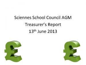Sciennes School Council AGM Treasurers Report 13 th
