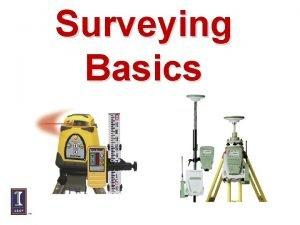 Surveying Basics Surveying Terms Bench mark BM relatively