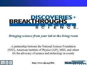 Bringing science from your lab to the living