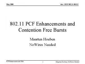 May 2000 doc IEEE 802 11 00113 802