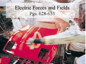 Electric Forces and Fields Pgs 628 653 Electric