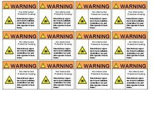WARNING WARNING NonInterlocked Protective Housing NonInterlocked Protective Housing