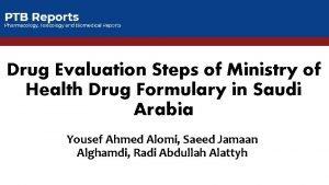 Drug Evaluation Steps of Ministry of Health Drug
