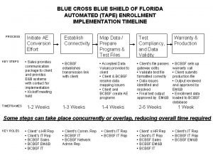 BLUE CROSS BLUE SHIELD OF FLORIDA AUTOMATED TAPE