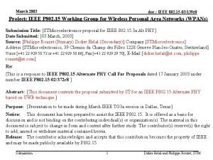 March 2003 doc IEEE 802 15 03139 r