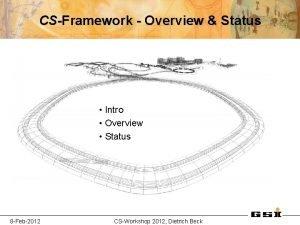 CSFramework Overview Status Intro Overview Status 8 Feb2012
