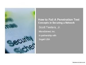 How to Fail A Penetration Test Concepts in