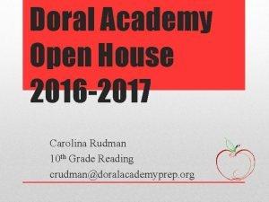 Doral Academy Open House 2016 2017 Carolina Rudman