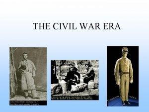 THE CIVIL WAR ERA THE MISSOURI COMPROMISE 1820