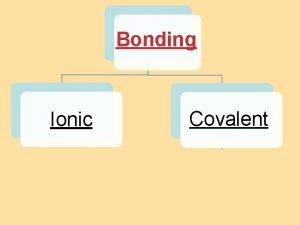 8 4 Bond Polarity Bonding Ionic Covalent 8