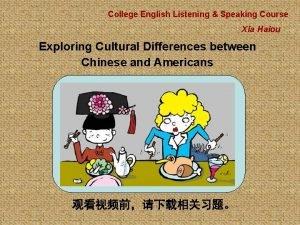 College English Listening Speaking Course Xia Haiou Exploring
