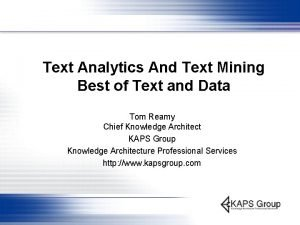 Text Analytics And Text Mining Best of Text