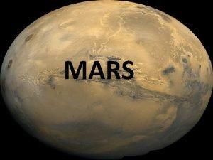 MARS Planeta Mars Mars czwarta wedug oddalenia od