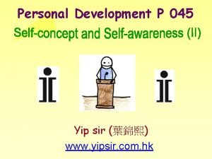 Personal Development P 045 Yip sir www yipsir