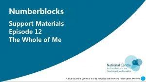 Insert Numberblocks Numberblocks Support Insert Support Materials Insert