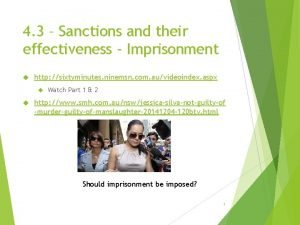 4 3 Sanctions and their effectiveness Imprisonment http