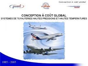 Conception cot global CONCEPTION COT GLOBAL SYSTEMES DE