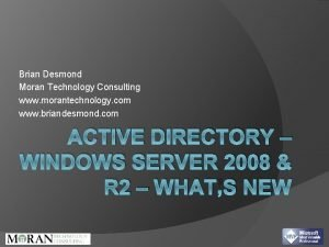 Brian Desmond Moran Technology Consulting www morantechnology com