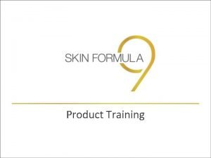 Product Training The Ageing Phenomenon Ageing is an
