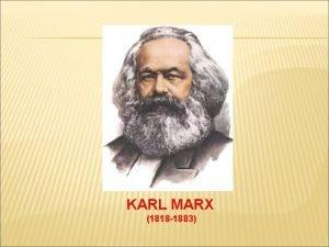 KARL MARX 1818 1883 VIDA DE K MARX