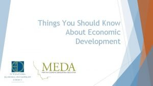 Things You Should Know About Economic Development Community