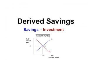 Derived Savings Investment GDP Leakage GDP C I