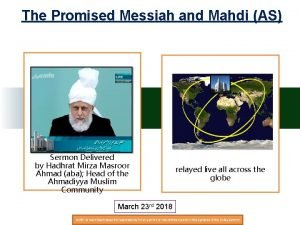 The Promised Messiah and Mahdi AS Sermon Delivered