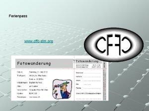 Ferienpass www cffcstm org Der CFFC stellt sich