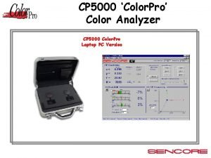 CP 5000 Color Pro Color Analyzer CP 5000