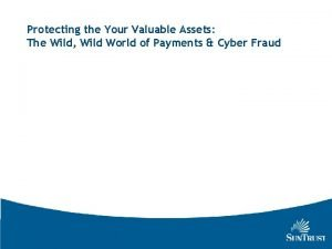 Protecting the Your Valuable Assets The Wild Wild