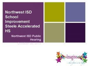 Northwest ISD School Improvement Steele Accelerated HS Northwest