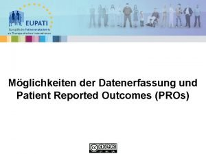 Europische Patientenakademie zu Therapeutischen Innovationen Mglichkeiten der Datenerfassung