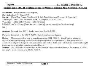May 2009 doc IEEE 802 15 09 0295