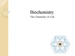 Biochemistry The Chemistry of Life Matter is anything