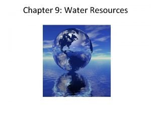 Chapter 9 Water Resources Dams and Salmon on