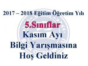 2017 2018 Eitim retim Yl 5 Snflar Kasm